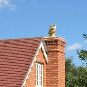 Dragon chimney pots