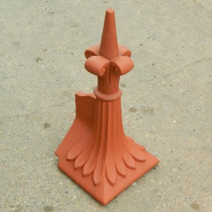 Hip end roof finials
