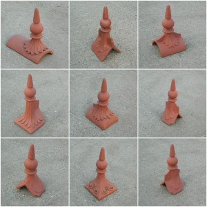 spike ball roof finials